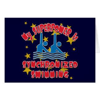 Cartes La ma superpuissance est natation synchronisée