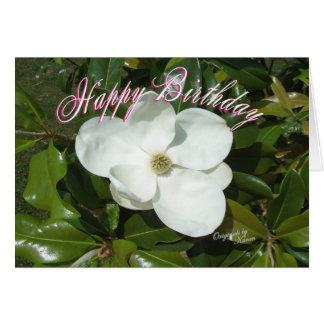 Cartes La magnolia Anniversaire-ajoutent vos mots