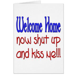 Cartes La maison bienvenue maintenant fermée et