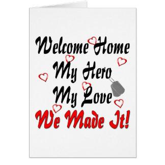Cartes La maison bienvenue mon héros mon amour nous