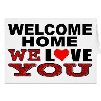 Cartes La maison bienvenue nous vous aimons