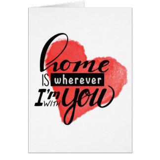 Cartes La maison est coeur là où de |