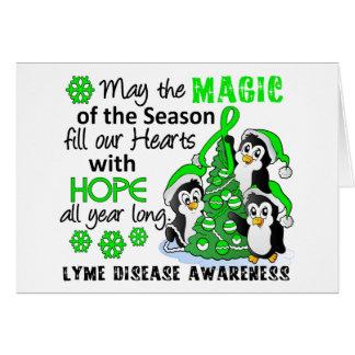 Cartes La maladie de Lyme de pingouins de Noël