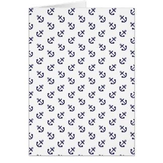 Cartes La marine ancre le motif blanc d'arrière - plan