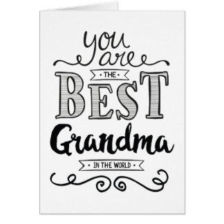 Cartes La meilleure grand-maman dans l'anniversaire du