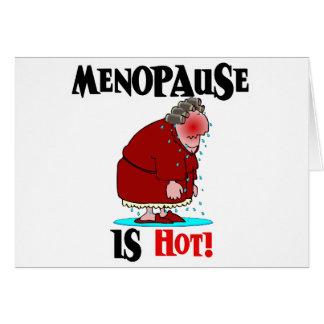 Cartes La ménopause est chaude