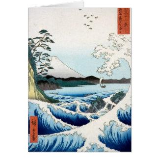 """Cartes """"La mer"""" Hiroshige Ukiyo-e"""