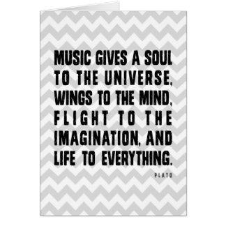 Cartes La musique de Chevron donne