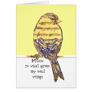 Cartes La musique est ce qui donne mes ailes d'âme avec