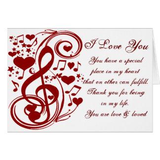 Cartes La musique est love_