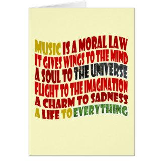 Cartes La musique est une loi morale