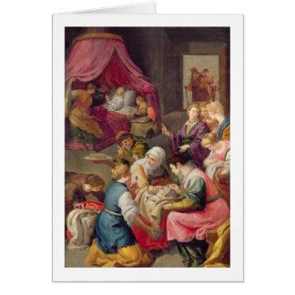 Cartes La naissance de la Vierge, 1640 (huile sur la