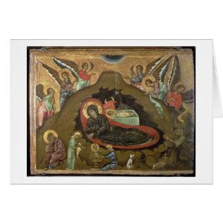 Cartes La nativité, (huile sur le panneau)
