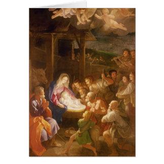 Cartes La nativité la nuit, 1640