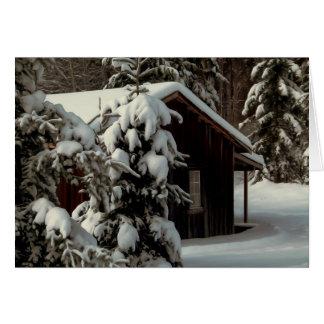 Cartes La neige a couvert le cabine