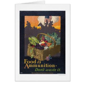Cartes La nourriture est des munitions