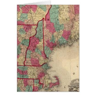 Cartes La Nouvelle Angleterre et le Canada inférieur