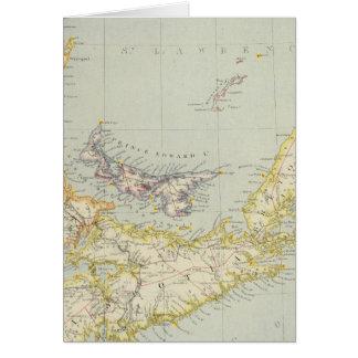 Cartes La Nouvelle-Écosse, île Prince Edouard, Nouveau