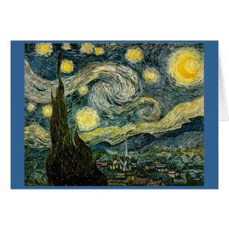 Cartes La nuit étoilée de Vincent van Gogh (1889)