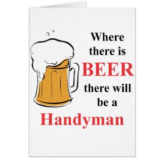 Cartes Là où il y a bière - bricoleur