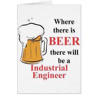Cartes Là où il y a bière - ingénieur industriel