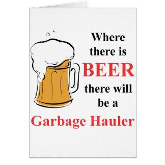 Cartes Là où il y a bière - transporteur de déchets