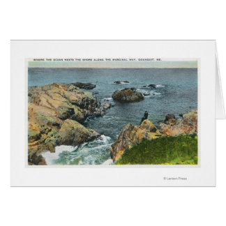 Cartes Là où l'océan rencontre le rivage