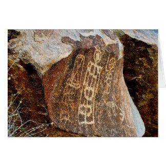 Cartes La pétroglyphe de passage d'arbre de Noël du