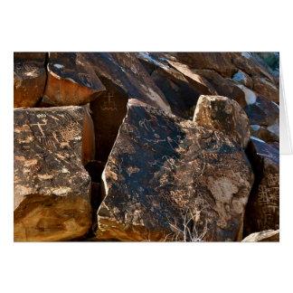 Cartes La pétroglyphe de passage d'arbre du Nevada