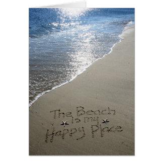 Cartes La plage est mon endroit heureux
