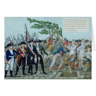 Cartes La plantation d'un arbre de la liberté, c.1789