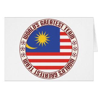 Cartes La plus grande équipe de la Malaisie