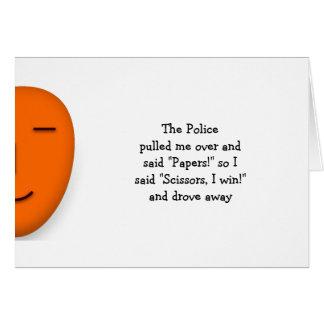 Cartes La police bascule la coutume drôle de citation de