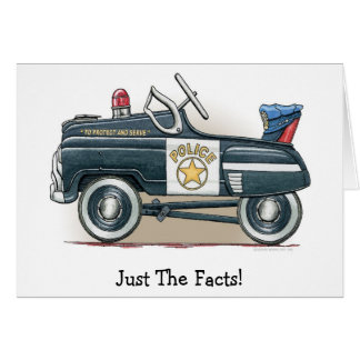 Cartes La police pédale voiture de cannette de fil de