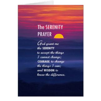 Cartes La prière 2 de sérénité