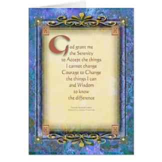 Cartes La prière de sérénité a illuminé 3