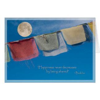 Cartes La prière tibétaine de solstice de vacances marque