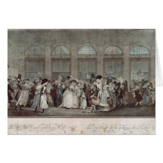 Cartes La promenade de la galerie de Palais Royal, 1787