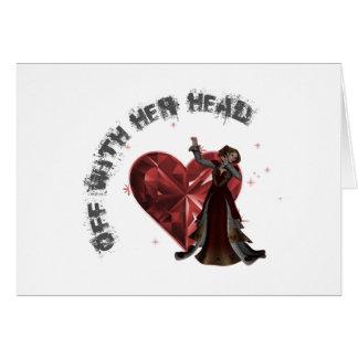 Cartes La Reine des coeurs - avec sa tête