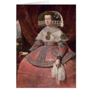 Cartes La Reine Maria Anna de l'Espagne dans une robe