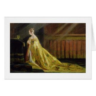 Cartes La Reine Victoria dans sa robe longue de