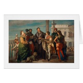 Cartes La réunion entre Titian (1488-1576) et Verones
