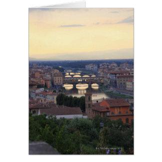 Cartes La rivière de l'Arno et le Ponte Vecchio à