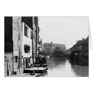 Cartes La rivière Gera à Erfurt, Thiringia, c.1910