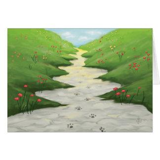 Cartes La route au ciel… Sympathie d'animal familier