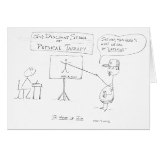 Cartes La sagesse de JIM : École de physiothérapie