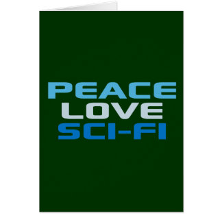 Cartes La science fiction d'amour de paix