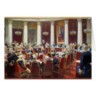 Cartes La séance cérémonieuse du Conseil d'État