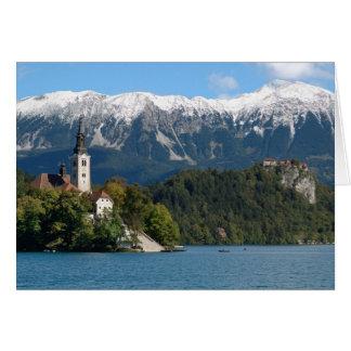 Cartes La Slovénie, saignée, lac saigné, île saignée,