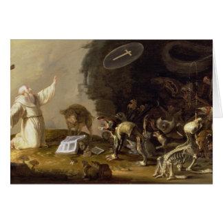 Cartes La tentation de St Anthony (panneau)